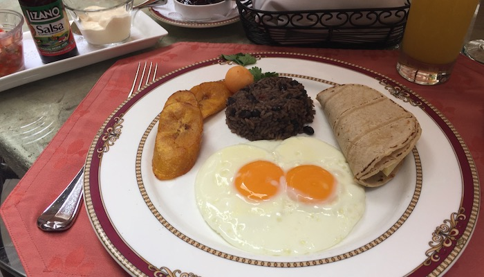 gallo pinto and typical costa rican breakfast
