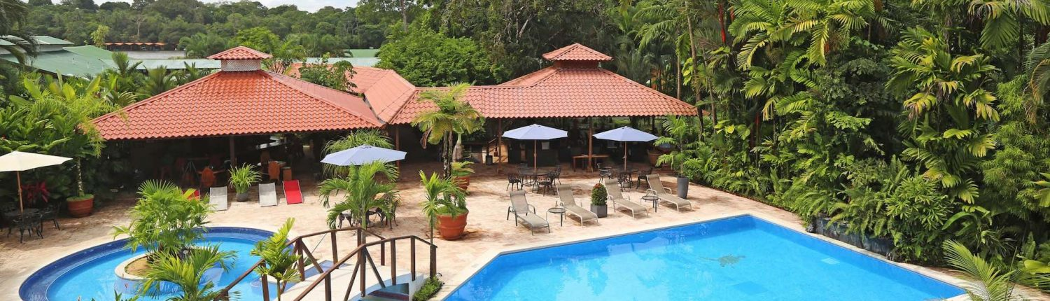 mawamba lodge tortuguero pool and river view