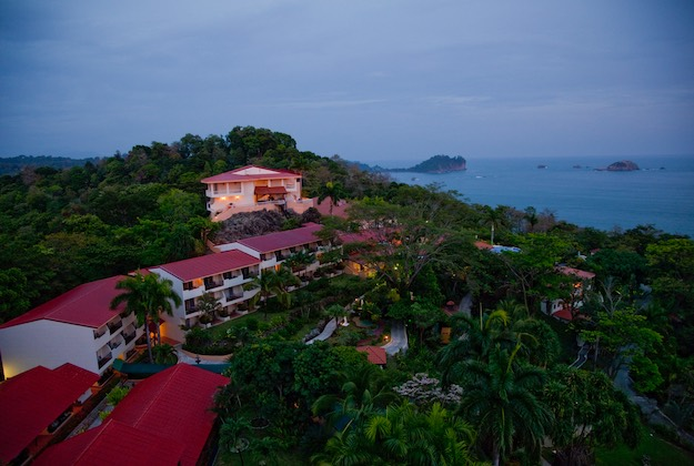 parador resort manuel antonio costa rica aerial view