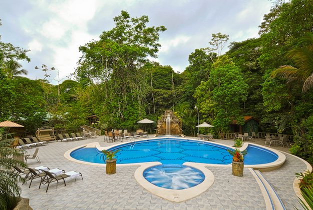 evergreen lodge tortuguero costa rica turtle shaped pool