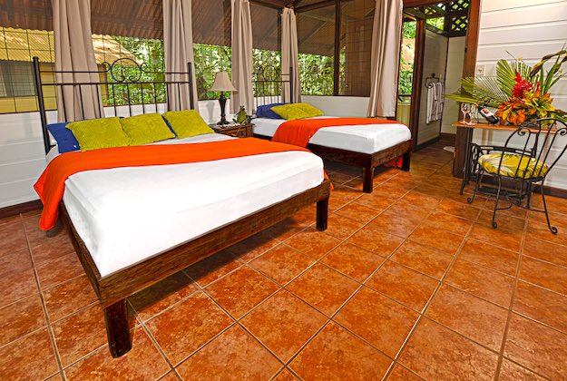 evergreen lodge tortuguero costa rica twin room