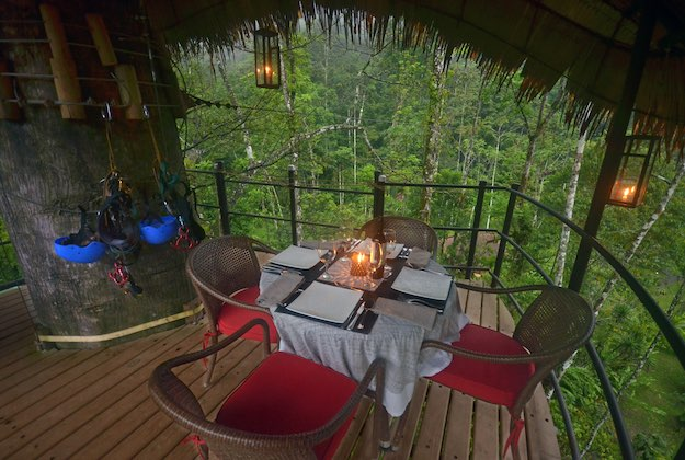 pacuare lodge costa rica canopy nest dinner