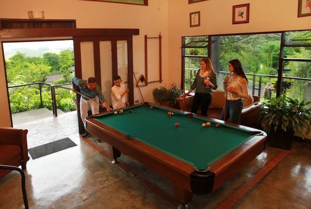 villa blanca cloud forest hotel costa rica games room