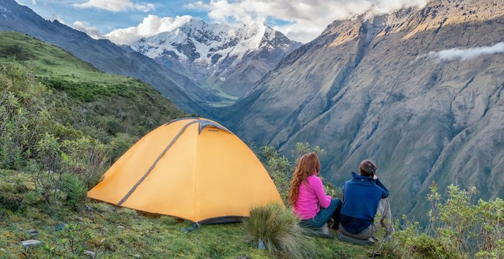 camping on the inca trail tour in Peru