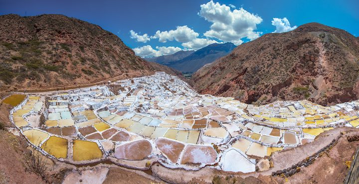 maras salt pans in the sacred valley peru as part of the inca trail tour