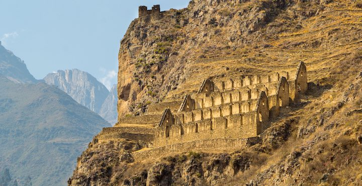 ollantaytambo fortress inca ruins in the sacred valley peru