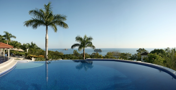 view from the pool at the parador hotel in manuel antonio costa rica