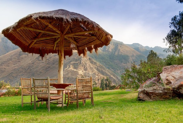 view of olltantaytambo from pakaritampu hotel in the sacred valley peru