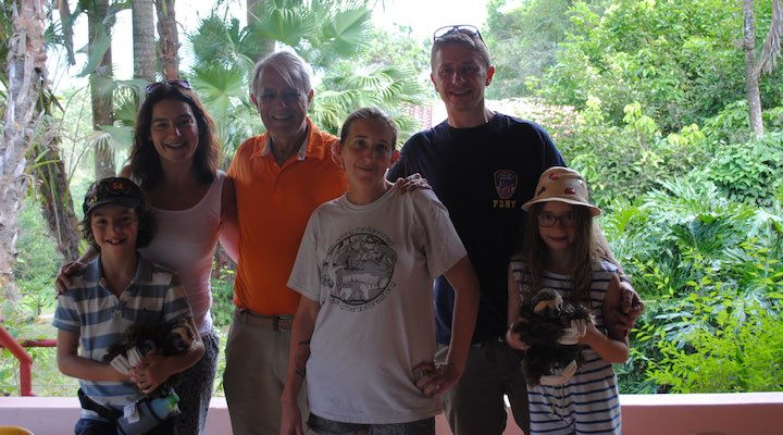 Trisk family at Kids Saving The Rainforest Wildlife Sanctuary
