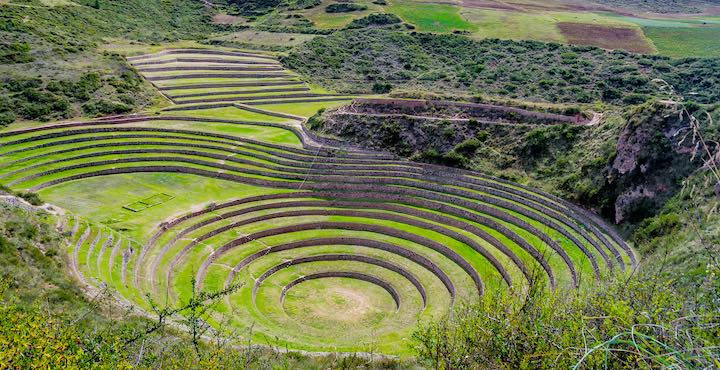 inca terraces of moray sacred valley peru