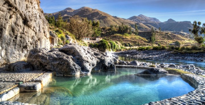 natural hot springs at the colca lodge peru