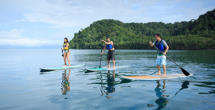 stand up paddle boarding at playa cativo costa rica