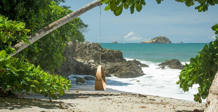 beach swing at arenas del mar hotel manuel antonio