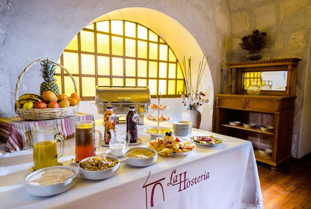 la hosteria arequipa breakfast buffet