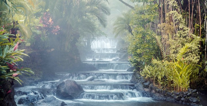 the tabacon hot springs in arenal costa rica