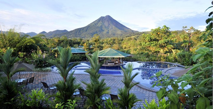 view of arenal volcano from manoa resort