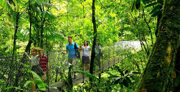 hanging bridges in arenal costa rica