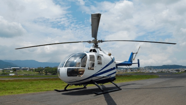 helicopter in costa rica
