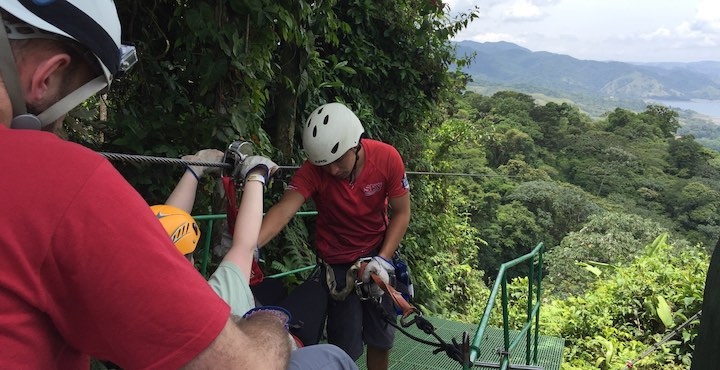 zip lining at sky trek arenal