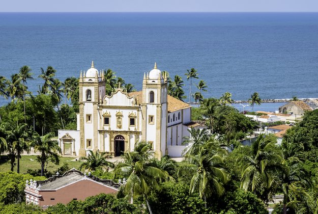 aerial photo of Igreja do Carmo Church in Olinda Brazil