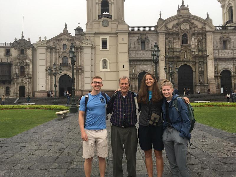 clients on tour in lima peru