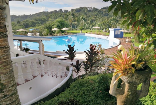 cristal ballena hotel pool and gardens