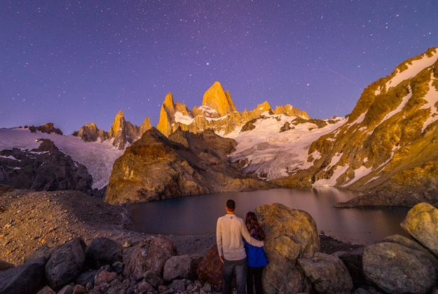 fitzroy at night el chalten argentina