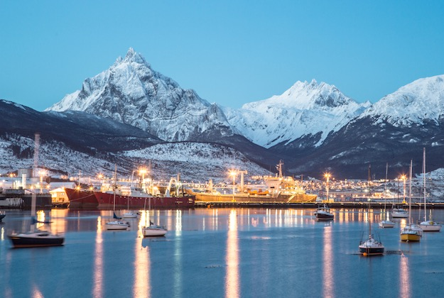 ushuaia port at night argentina