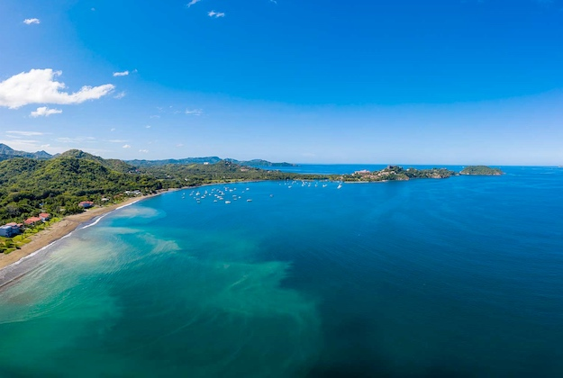 aerial view of potrero bay costa rica