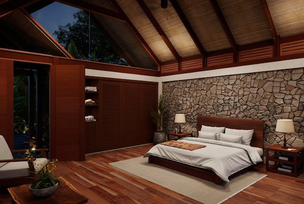 amor arenal hotel king bed casita