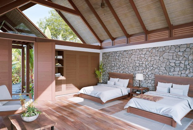 amor arenal hotel twin bed casita