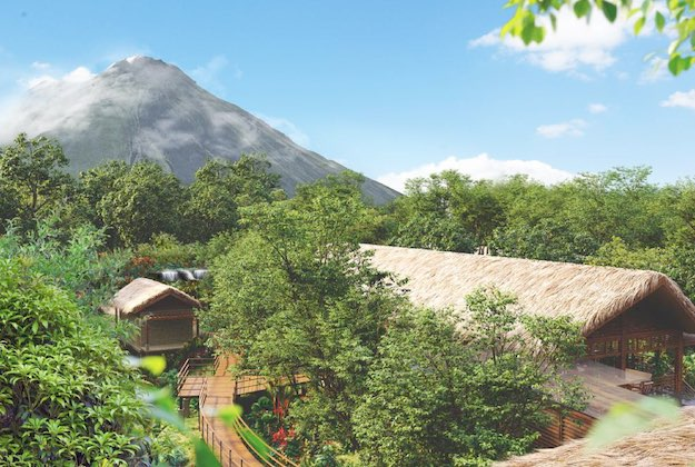 amor arenal hotel with volcano views