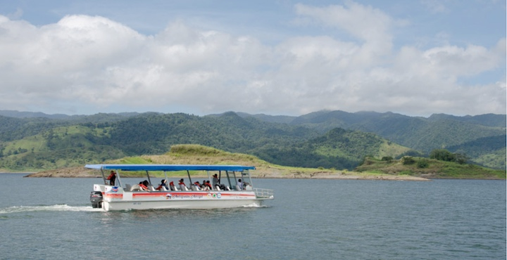 crossing arenal lake to monteverde
