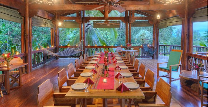 the canopy restaurant at playa nicuesa eco lodge