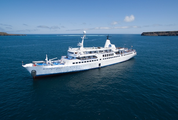 Galapagos legend cruise aerial view