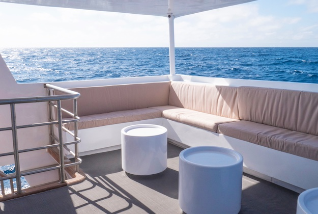 aqua yacht galapagos outside seating