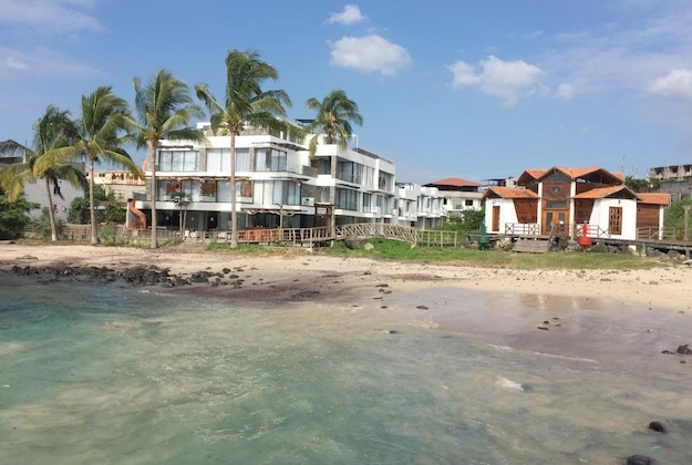 golden bay hotel san cristobal galapagos view from the ocean