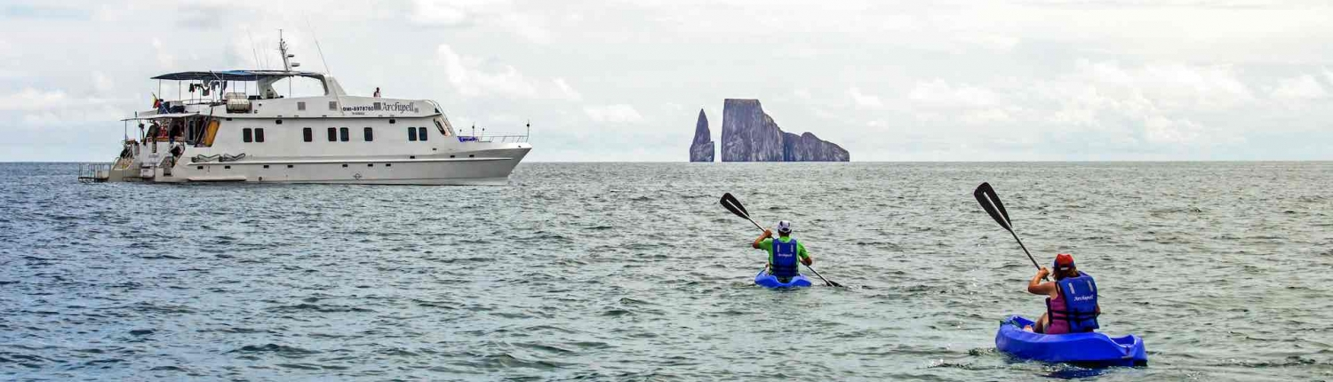 kayaking on a galapagos tour with the latin america travel company