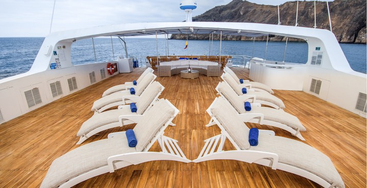 sun deck of the archipel I motor catamaran