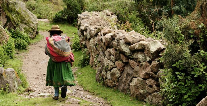woman in the sacred valley peru