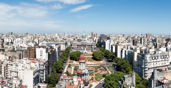 aerial view of buenos aires on holiday