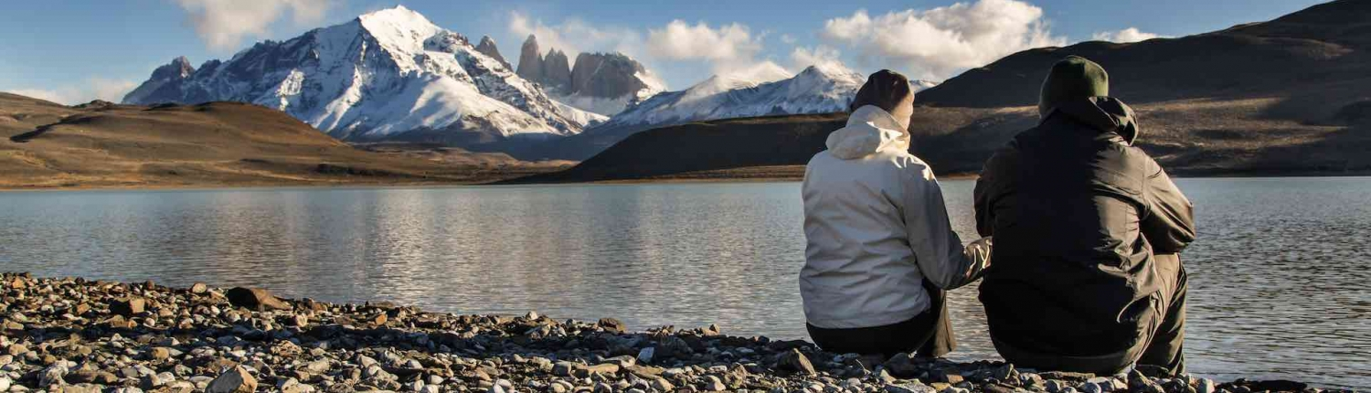 couple on a self drive tour in torres del paine chile