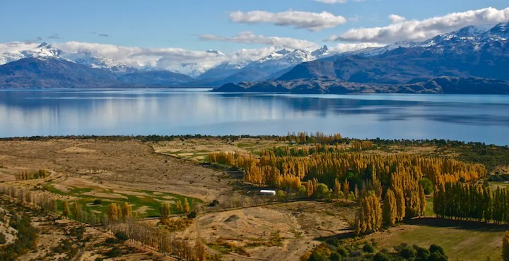 view of lake general carrera in chile