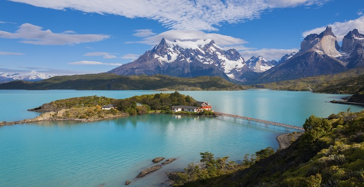 pehoe lake torres del paine chile