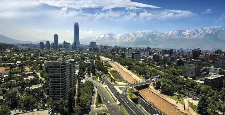 santiago chile on a clear day