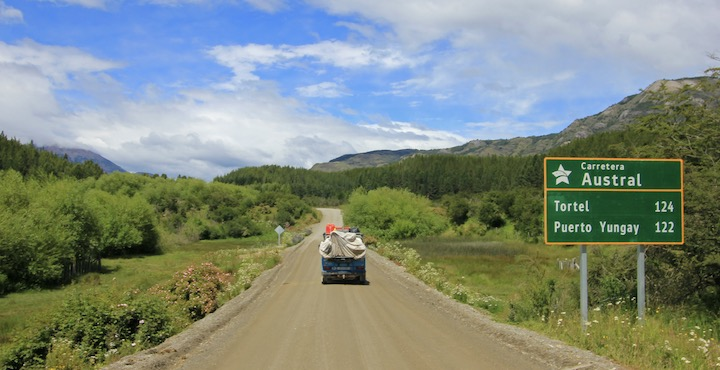 self drive on the carretera austral dirt road in chile
