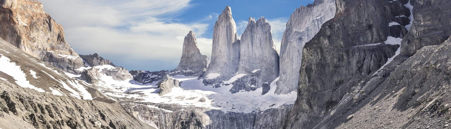 torres del paine towers in chile patagonia